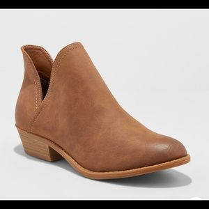 V-Cut Ankle Booties